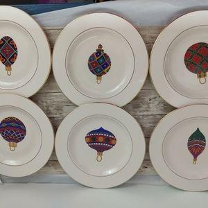 Christmas plates & mug set (6)